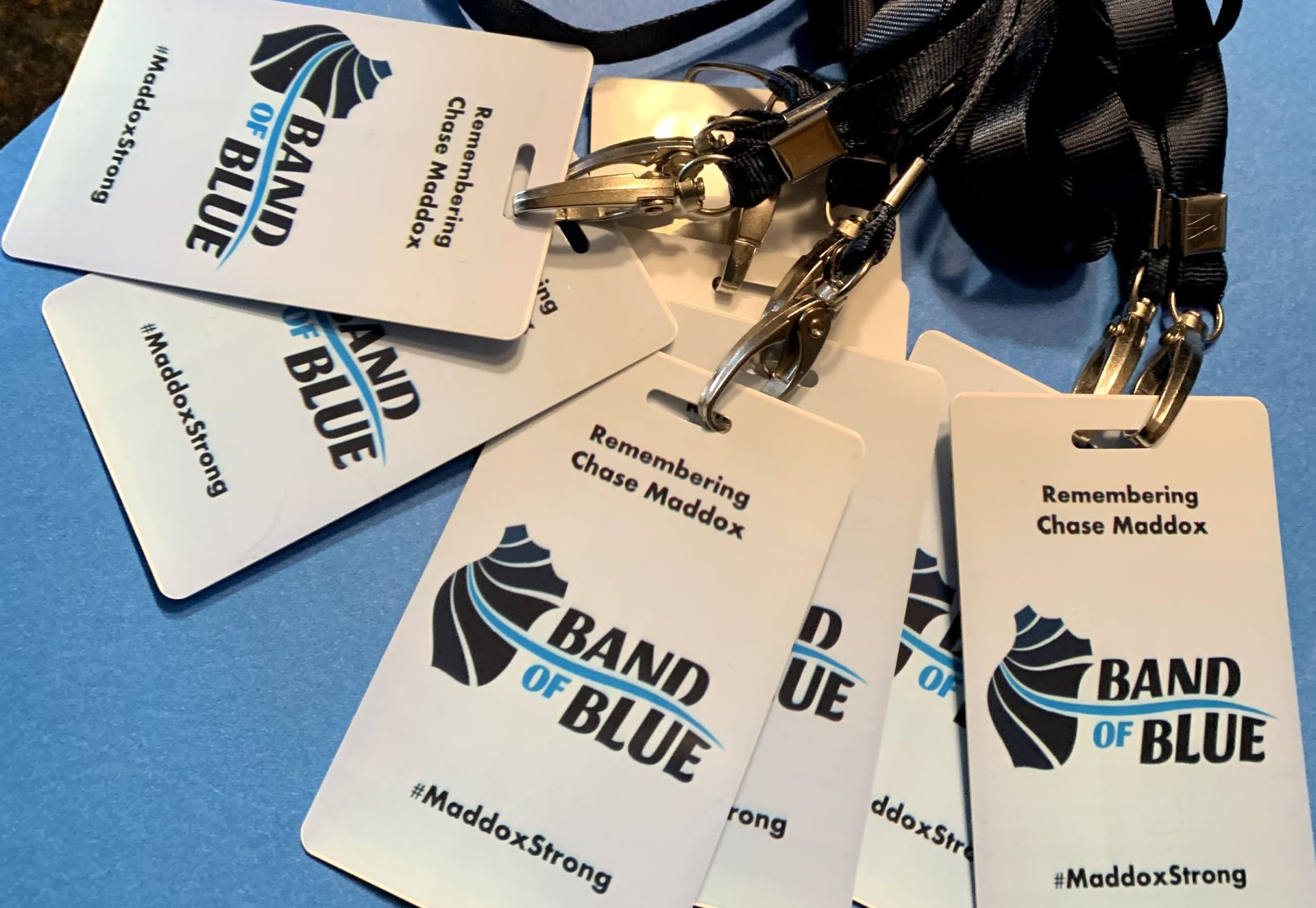 band of blue name tags